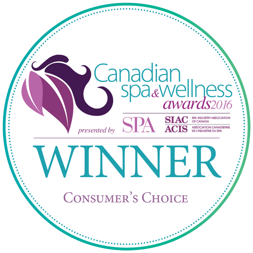 """Consumer's Choice"" Award from the Canadian Spa and Wellness Awards 2016"